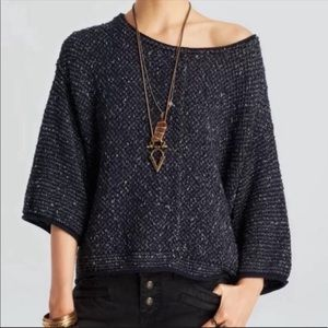 Free People Under Your Spell Navy Sweater Sz S